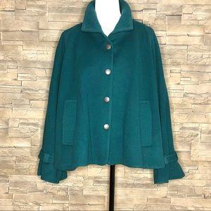 Catherine Malandrino green wool coat